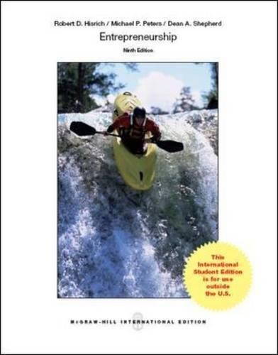 Entrepreneurship, 9th Edition: Peters, Michael P.,