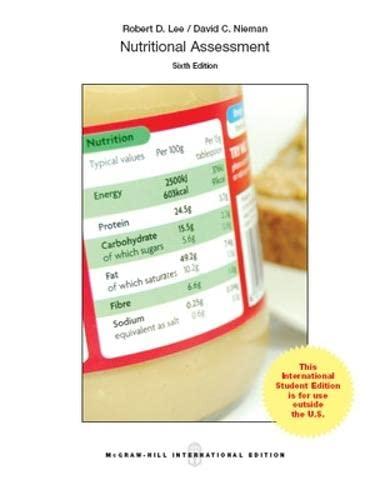Nutritional Assessment: Lee