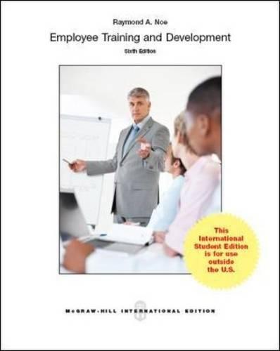 9780071326384: Employee Training & Development (Int'l Ed)