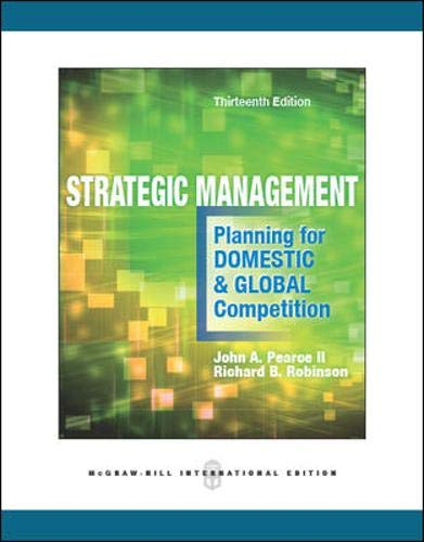 9780071326391: Strategic Management: Planning for Domestic & Global Competition