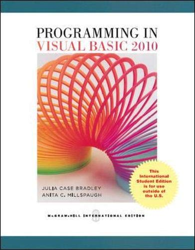 9780071326766: Programming in Visual Basic 2010 (Asia Higher Education Computer and Information Technology Programming)