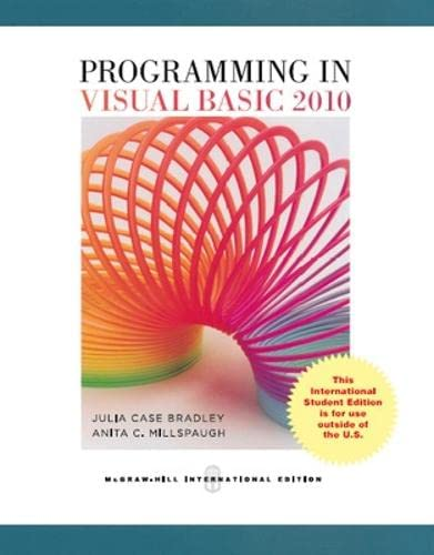 9780071326766: Programming in Visual Basic 2010