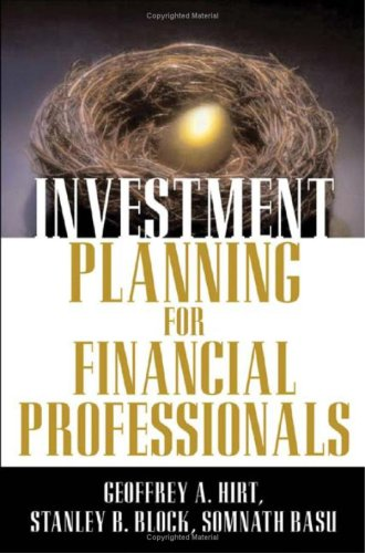 9780071327213: Investment Planning for Financial Professionals
