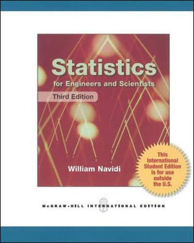 9780071327565: Statistics for Engineers and Scientists