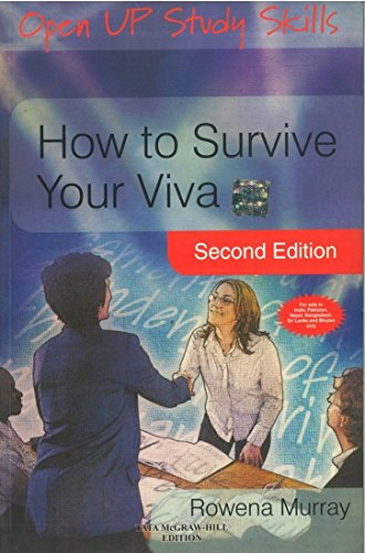 9780071331746: How To Survive Your VivanDefending A Thesis In An Oral Examination