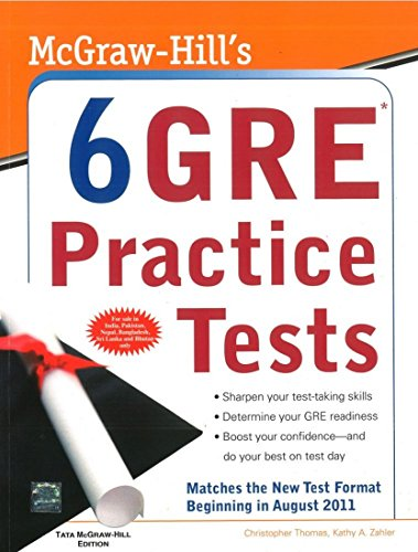9780071332521: MCGRAW-HILL'S 6 GRE PRACTICE TESTS