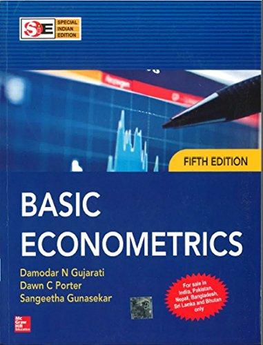 Basic Econometrics Fifth Edition By Damodar N Gujarati Dawn C