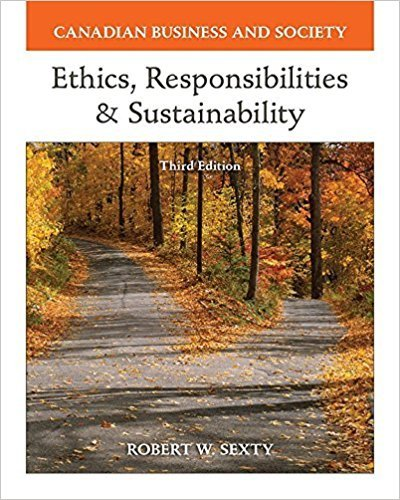 9780071338851: Canadian Business and Society : Ethics, Responsibility and Sustainability