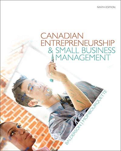 9780071338868: Canadian Entrepreneurship & Small Business Management