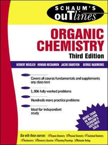 9780071341653: Schaum's Outline of Organic Chemistry (Schaum's Outline Series)