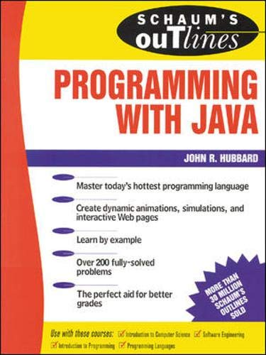 9780071342100: Schaum's Outlines of Programming with Java