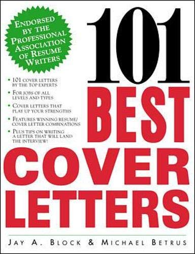 9780071342575: 101 Best Cover Letters