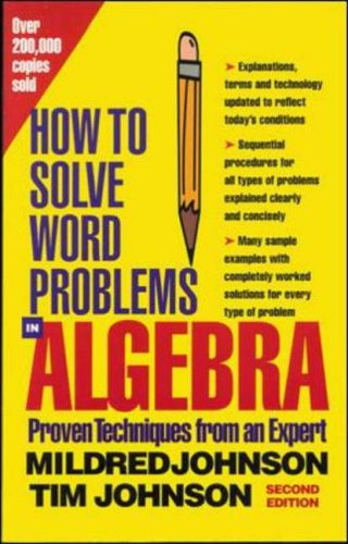 9780071343077: How To Solve Word Problems In Algebra: McGraw Hill Study Guide