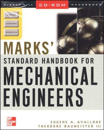 9780071344111: Mark's Standard Handbook for Mechanical Engineers on CD-ROM