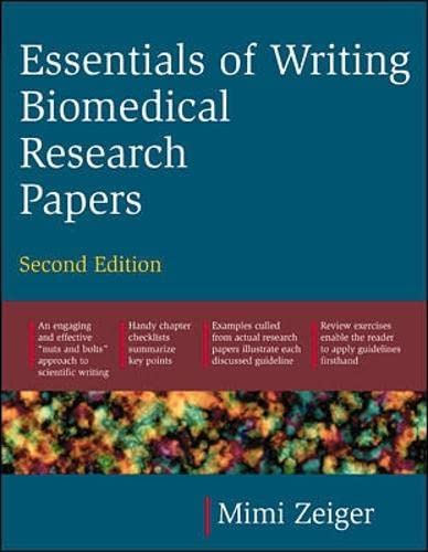 9780071345446: Essentials of Writing Biomedical Research Papers. Second Edition