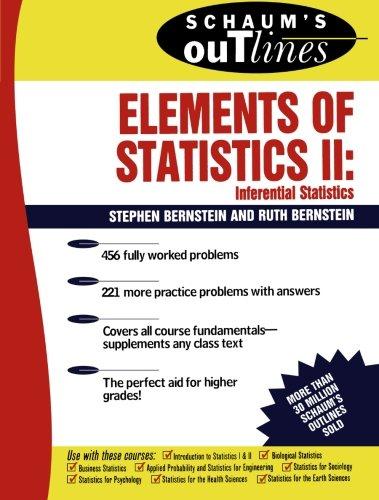 Schaum's Outline of Elements of Statistics II: Ruth Bernstein, Stephen