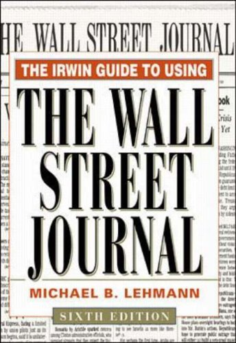 """9780071346498: Irwin Guide to Using the """"Wall Street Journal"""""""