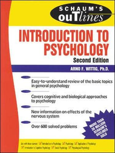 9780071347099: Schaum's Outline of Introduction to Psychology