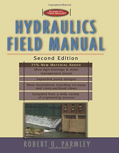 9780071348324: Hydraulics Field Manual, 2nd Edition