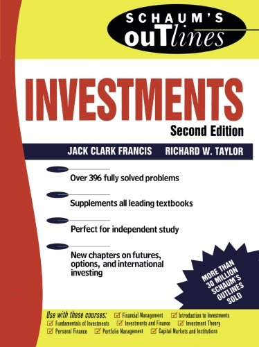 9780071348492: Schaum's Outline of Investments (Schaum's Outline Series)