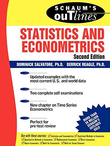 9780071348522: Schaum's Outline of Statistics and Econometrics, Second Edition (Schaum's Outline Series)