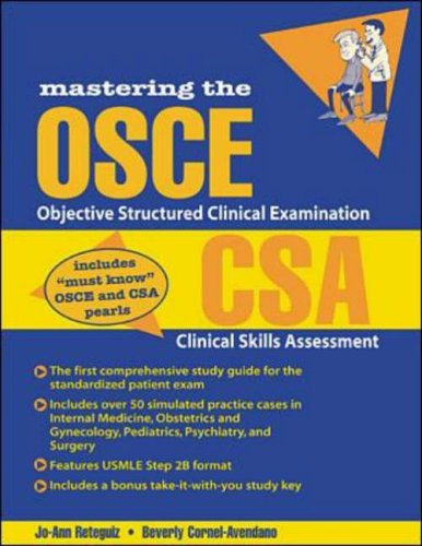 9780071350129: Mastering the OSCE/CSA: Objective Structured Clinical Examination/Clinical Skills Assessment