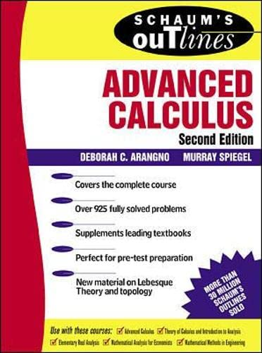 9780071350198: Schaum's Outline of Advanced Calculus