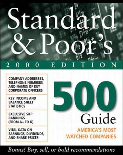 9780071352567: Standard and Poor's 500 Guide 2000