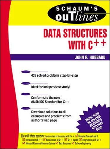 Schaum's Outline of Data Structures with C++ (9780071353458) by John R. Hubbard