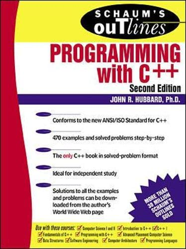 9780071353465: Schaum's Outline of Programming with C++ (Schaum's Outline Series)