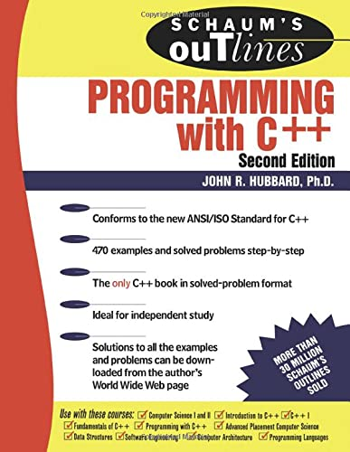 9780071353465: Schaum's Outline of Programming with C++