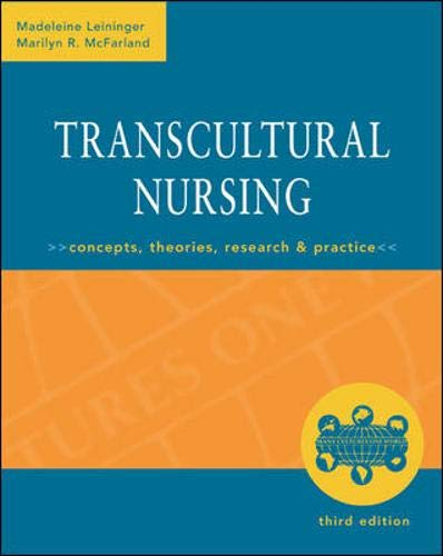 9780071353977: Transcultural Nursing: Concepts, Theories, Research & Practice, Third Edition