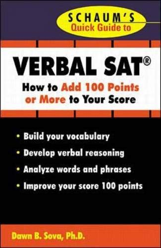 9780071354011: Schaum's Quick Guide to the SAT