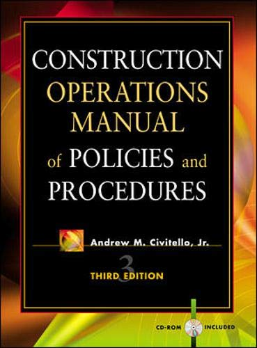 9780071354950: Construction Operations Manual of Policies and Procedures
