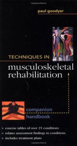 9780071354974: Techniques in Musculoskeletal Rehabilitation: Companion Handbook