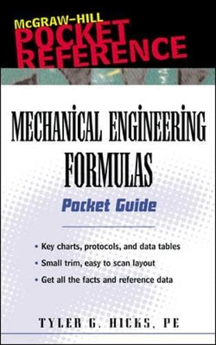 9780071356091: Mechanical Engineering Formulas Pocket Guide (McGraw-Hill Pocket Reference)