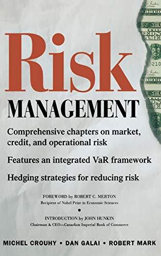 Risk Management: Michel Crouhy, Robert