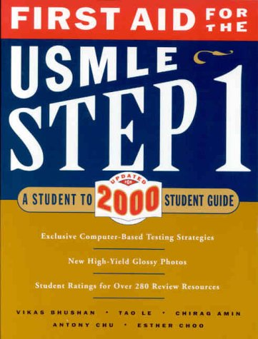 9780071358491: First Aid for the USMLE Step 1 2000: A Student to
