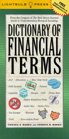 Dictionary of Financial Terms 9780071359030 Finally, a dictionary that unravels the insider jargon of investing and trading in words--and pictures--we can all understand. In place of cryptic definitions that are often more intimidating than the words themselves, the  Dictionary of Financial Terms provides truly helpful explanations of over 700 of the most commonly used, and most commonly misunderstood financial terms, using examples, illustrations, and complementary graphics to make the words meaningful as well as memorable. Filled with helpful cross references that link related terms and concepts, the dictionary also lists the most important terms to know for online trading, investing in stocks and mutual funds, and analyzing investment performance. Special sections also clarify the differences between frequently confused terms: what is the difference between NASD, Nasdaq and OTC, anyway? With dramatic changes in the financial markets occurring each day, it's getting more and more difficult to read the news, let alone the business sections of daily papers, without a handy guide to financial terms by your side.