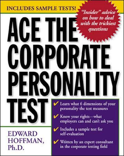 9780071359122: Ace the Corporate Personality Test
