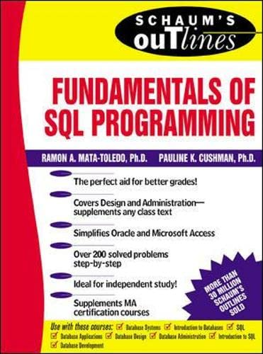 9780071359535: Schaum's Outline of Fundamentals of SQL Programming