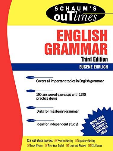 9780071359856: Schaum's Outline of English Grammar (Schaum's Outline Series)
