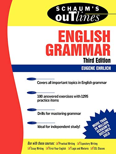 9780071359856: Schaum's Outline of English Grammar