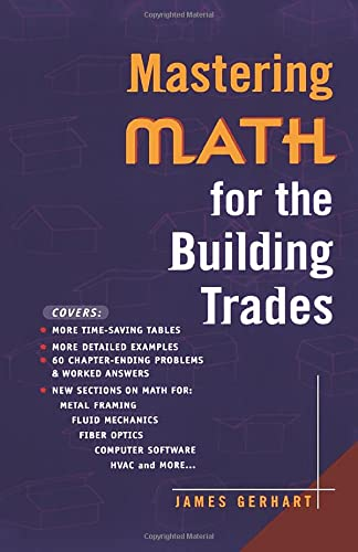 9780071360234: Mastering Math for the Building Trades