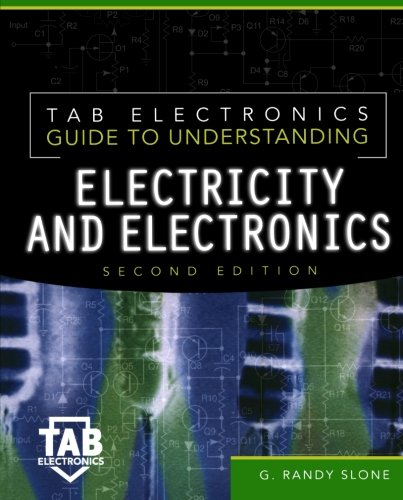 Electricity and Electronics 9780071360579 All-inclusive introduction to electricity and electronics. For the true beginner, there's no better introduction to electricity and electronics than TAB Electronics Guide to Understanding Electricity and Electronics , Second Edition. Randy Slone's learn-as-you-go guide tells you how to put together a low-cost workbench and start a parts and materials inventory--including money-saving how-to's for salvaging components and buying from surplus dealers. You get plain-English explanations of electronic components-resistors, potentiometers, rheostats, and resistive characteristics-voltage, current, resistance, ac and dc, conductance, power...the laws of electricity...soldering and desoldering procedures...transistors...special-purpose diodes and optoelectronic devices...linear electronic circuits...batteries...integrated circuits...digital electronics...computers...radio and television...and much, much more. You'll also find 25 complete projects that enhance your electricity/electronics mastery, including 15 new to this edition, and appendices packed with commonly used equations, symbols, and supply sources.