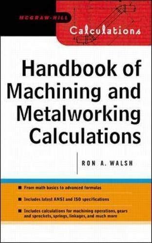 9780071360661: Handbook of Machining and Metalworking Calculations