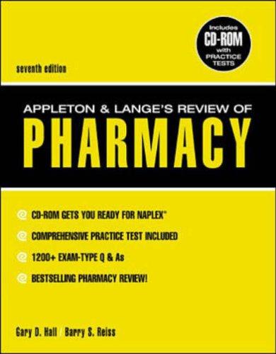 9780071360883: Appleton & Lange's Review of Pharmacy