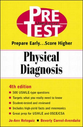 9780071360982: Pre-test Self-Assessment and Review: Physical Diagnosis (PreTest Clinical Science)