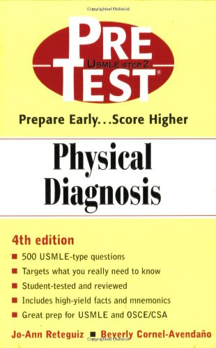 9780071360982: Physical Diagnosis: PreTest Self-Assessment and Review