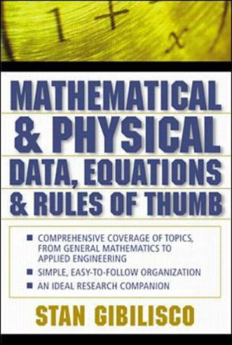 9780071361484: Mathematical and Physical Data, Equations, and Rules of Thumb